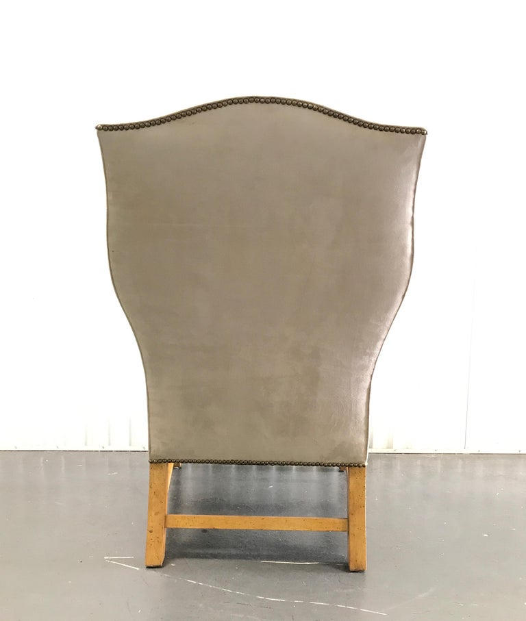 Vintage Baker Chippendale Style Wing Chair For Sale 1