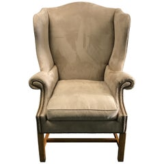 Vintage Baker Chippendale Style Wing Chair