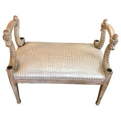 Vintage Baker Furniture Serpent Bench