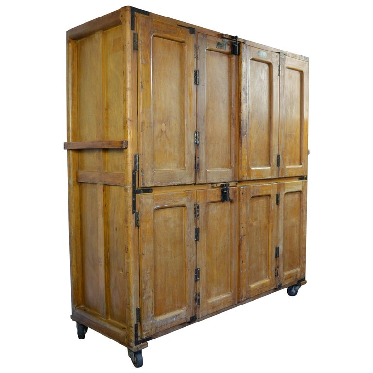 Vintage Bakery Cabinet, Baker's Cabinet on Wheels, Kitchen ...