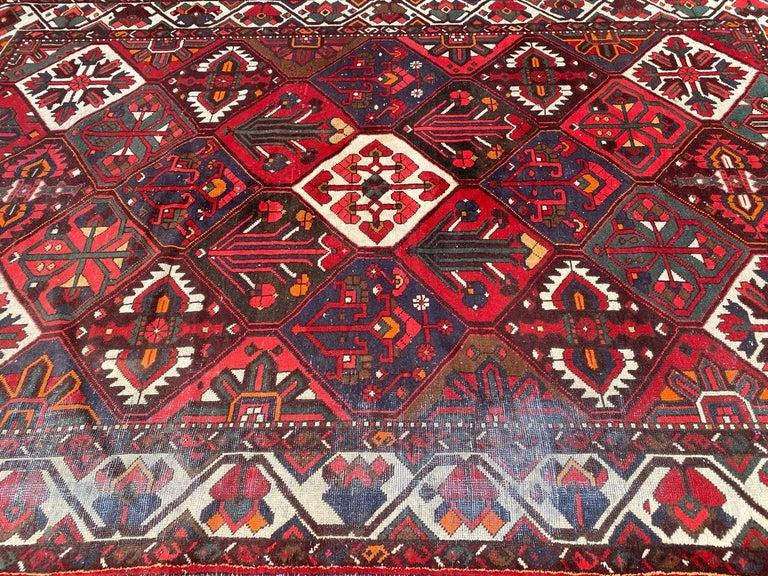 Vintage Bakhtiar Used Rug For Sale 2