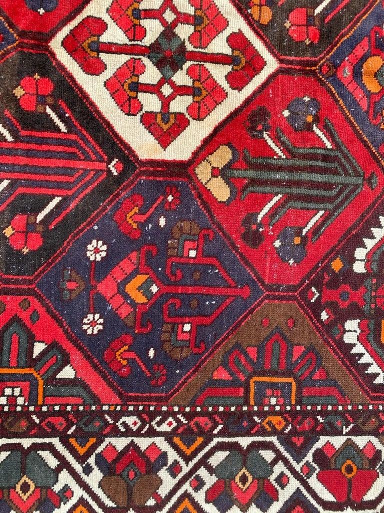 Hand-Knotted Vintage Bakhtiar Used Rug For Sale