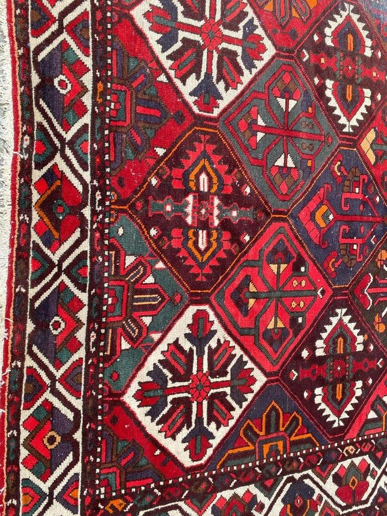 Wool Vintage Bakhtiar Used Rug For Sale