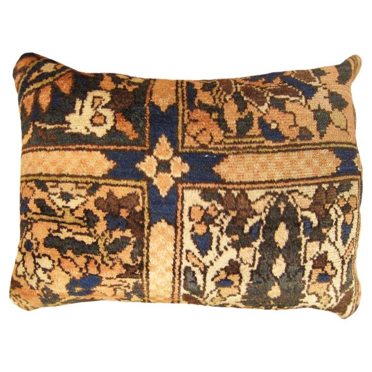 Vintage Persian Baktiari Decorative Oriental Rug Pillow For Sale