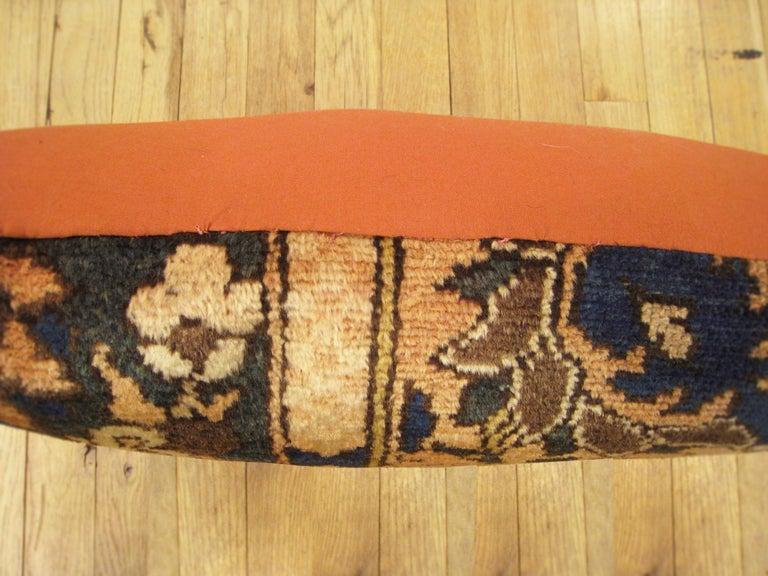Mid-20th Century Vintage Persian Baktiari Decorative Oriental Rug Pillow For Sale