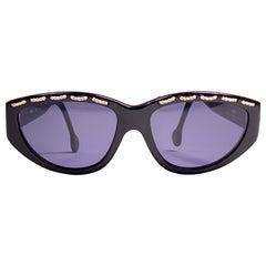 Vintage Balenciaga BS8 Grey Lenses 1980's Sunglasses Made in France