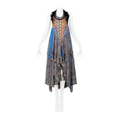 Vintage Balenciaga By Nicolas Ghesquiere Boho Party Dress 2005