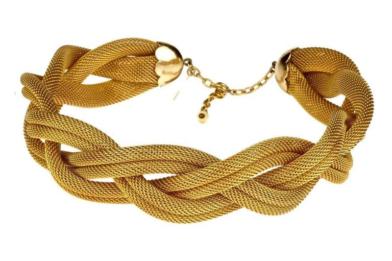 Women's Vintage BALENCIAGA PARIS Braided Mesh Choker Necklace For Sale