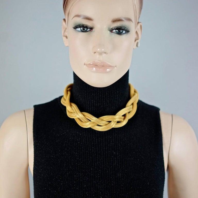 Vintage BALENCIAGA PARIS Braided Mesh Choker Necklace For Sale 3