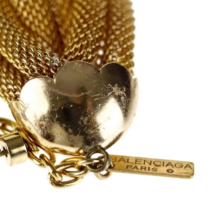 Vintage BALENCIAGA PARIS Braided Mesh Choker Necklace For Sale 4