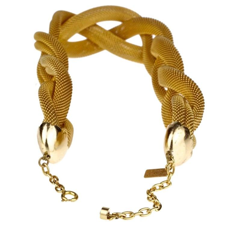 Vintage BALENCIAGA PARIS Braided Mesh Choker Necklace For Sale 5