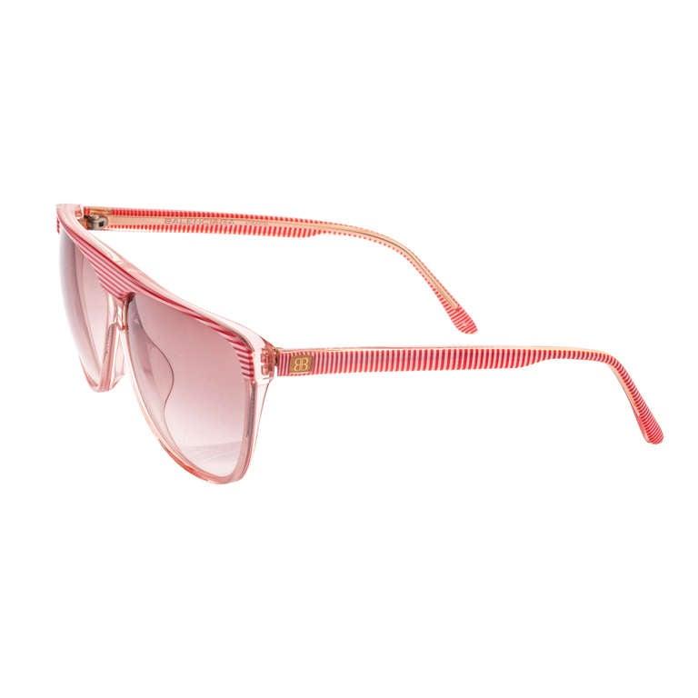 Pink Striped Aviator Sunglasses
