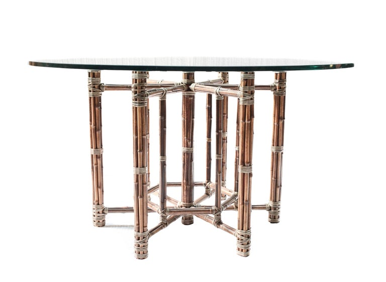 Vintage Bamboo And Rattan Dining Table By Mcguire At 1stdibs