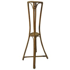 Vintage Bamboo and Rattan Plant Stand
