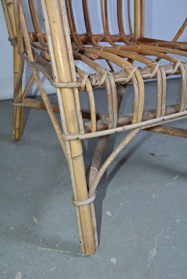 Vintage Bamboo Arm Chair For Sale 1