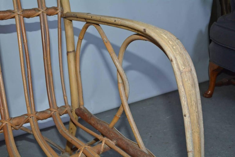 Vintage Bamboo Arm Chair For Sale 4