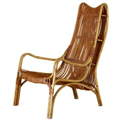 Vintage rattan  Armchair from the 1960s