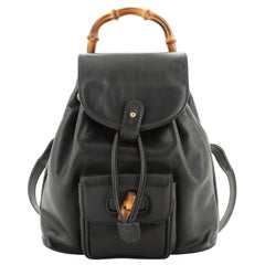 Vintage Bamboo Backpack Leather Mini