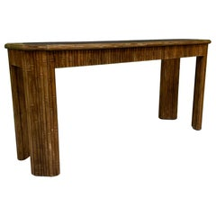 Vintage Reed Bamboo Console Table
