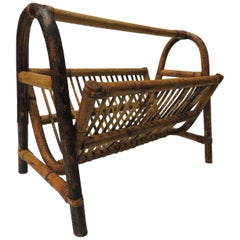 Vintage Bamboo Magazine Rack/Holder