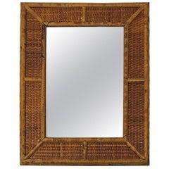 Vintage Bamboo Wall Mirror