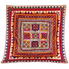 Vintage Banjara Tribal Embroidered Chaakla Wall Hanging, India