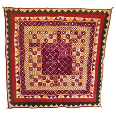 Vintage Banjara Tribal Embroidered Chaakla with Mirrors, India
