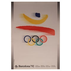 Vintage Barcelona 1992 Olympic Poster for the XXV Olympiad