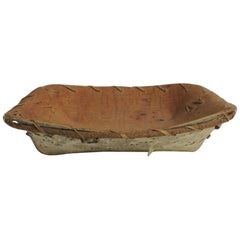 Vintage Bark Tree Serving Decorative Artisanal Bowl