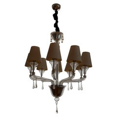 Vintage Barovier and Toso Crystal, Lucite, Glass Chandelier