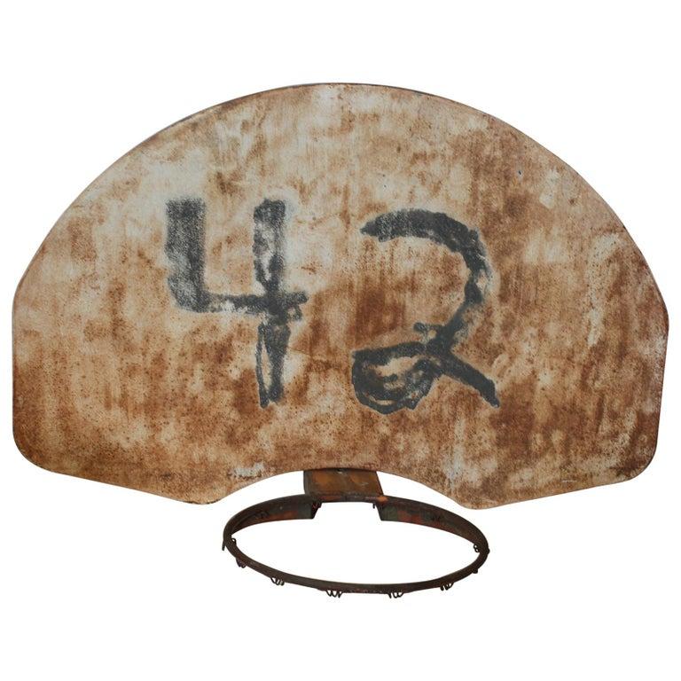 Vintage Basketball Backboard and Hoop For Sale