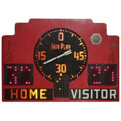 Vintage Basketball Light Up Scoreboard