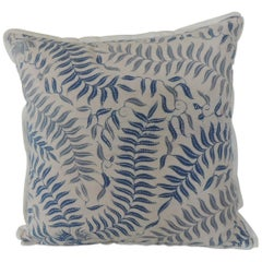 Vintage Batik Blue and White Petite Decorative Pillow
