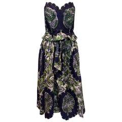 Vintage Batik Print Skirt and Bodice