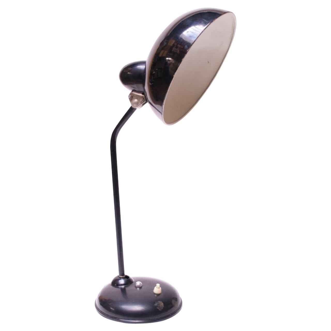 Vintage Bauhaus-Style Painted Metal Adjustable Table/Task Lamp