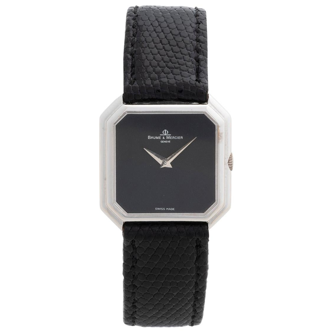 Vintage Baume & Mercier Dress Watch, Black Onyx Dial, Outstanding Condition