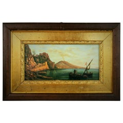 Vintage Bay of Naples Painting