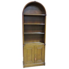 Vintage Beacon Hill Mahogany Arched Top English Regency Bookcase