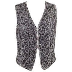 Vintage Beaded Embellished Gilet Vest Waistcoat
