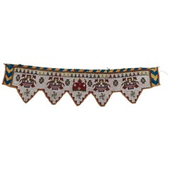 Vintage Beaded Toran Doorway Hanging, Kathi of Gujarat, India, Mid-20th Century