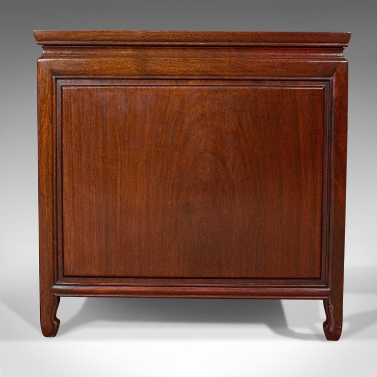 Vintage Bedside Nightstand, Asian, Teak, Side Cabinet, 20th Century, circa 1990 For Sale 1