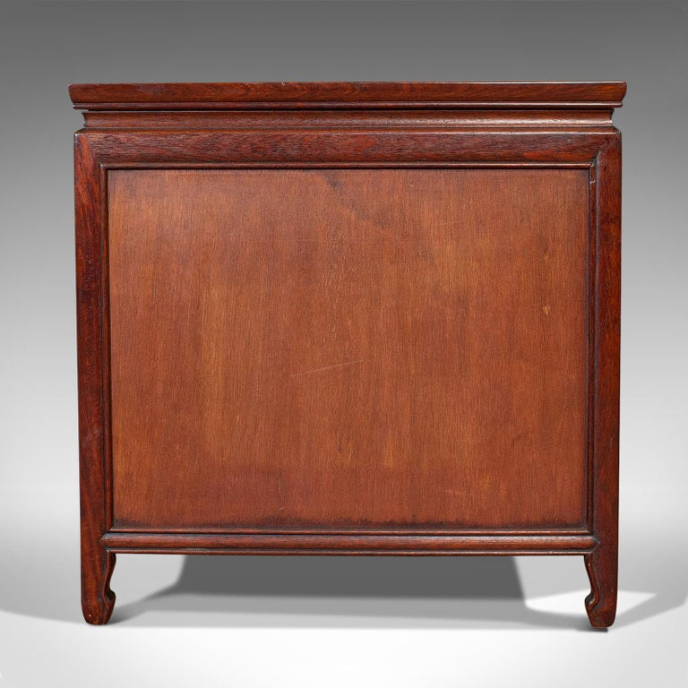 Vintage Bedside Nightstand, Asian, Teak, Side Cabinet, 20th Century, circa 1990 For Sale 2