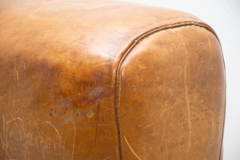 Vintage Beech, Metal and Leather Gym Pommel Horse, 1930s For Sale 1