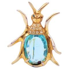 Vintage Beetle Pin Brooch 1940s