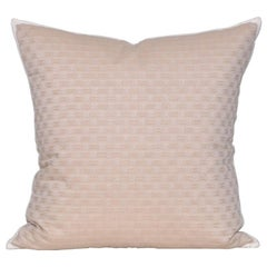 Vintage Beige Celine Fabric with Irish Linen Cushion Pillow