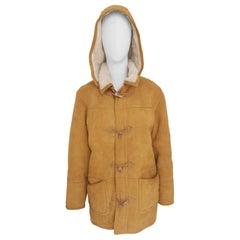 Vintage beige suede wool bomber jacket