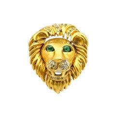 Vintage Bejewelled Lion Statement Ring 1980s