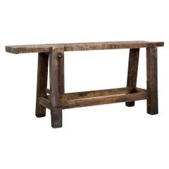 Vintage Belgian Wooden Worktable