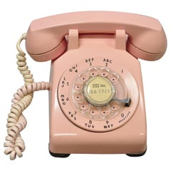 Vintage Bell System Western Electric Pink Rotary Phone Classic Telephone