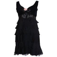 Vintage Bellville Sassoon /Lorcan Mullany Black Cocktail Dress